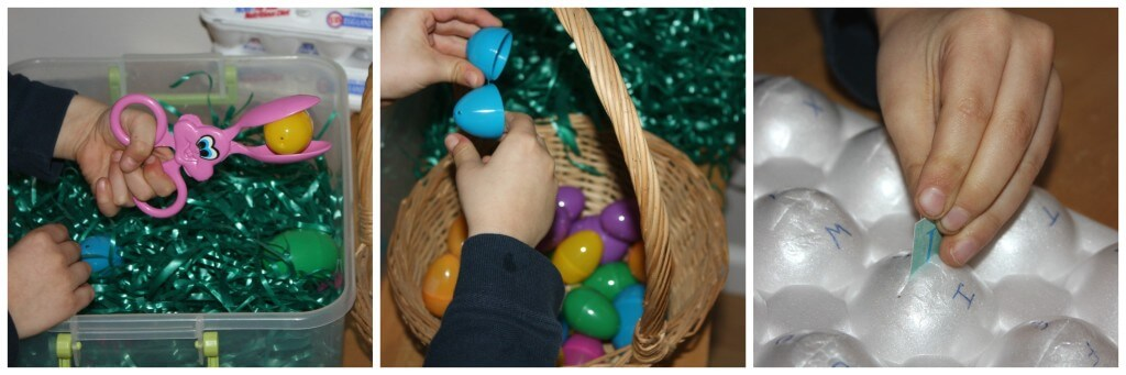 Easter Letter Recognition Sensory Activity