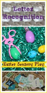 Easter Letter Recognition Sensory Play