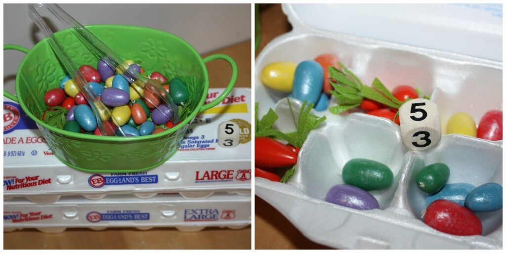 Easter Math Games Egg and Egg Crates