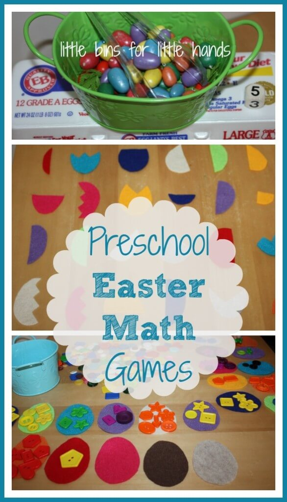 Easter Preschool Math Games