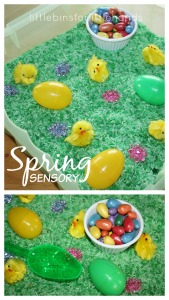 Easter Sensory Bin Spring Sensory Play