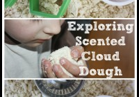 Exploring scented cloud dough