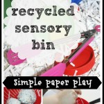 Paper Sensory Bin Play Activities
