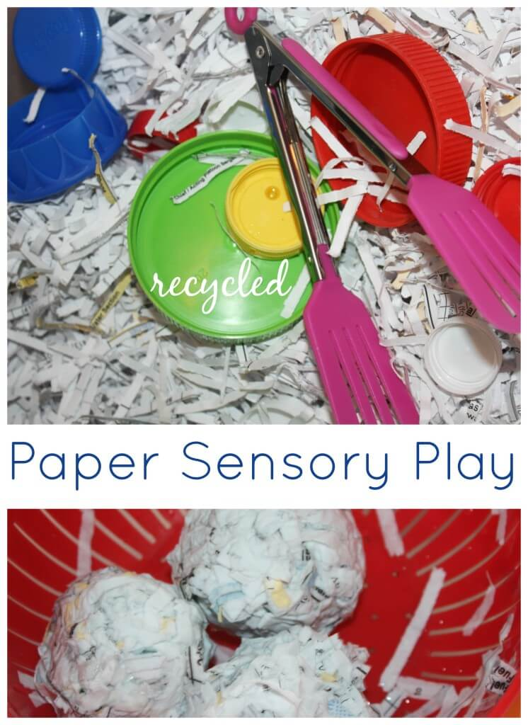 Paper Sensory Bin Shredded Paper Sensory Play