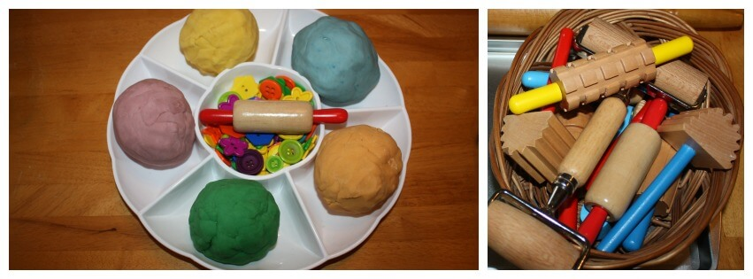 Play Dough Sensory & Fine Motor Tray Set Up