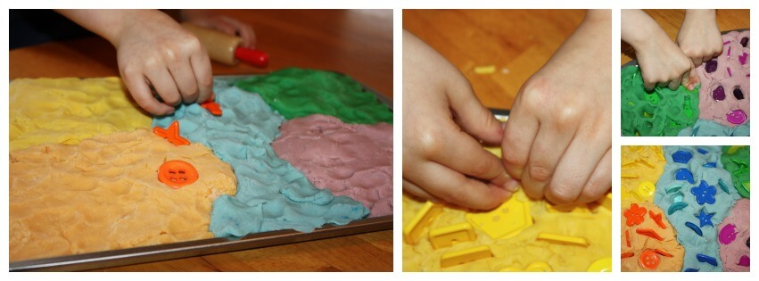 Play Dough Sensory Input & Fine Motor Skills Button Pushing