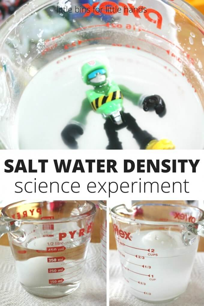Salt Water Density Science Experiment Float an egg!