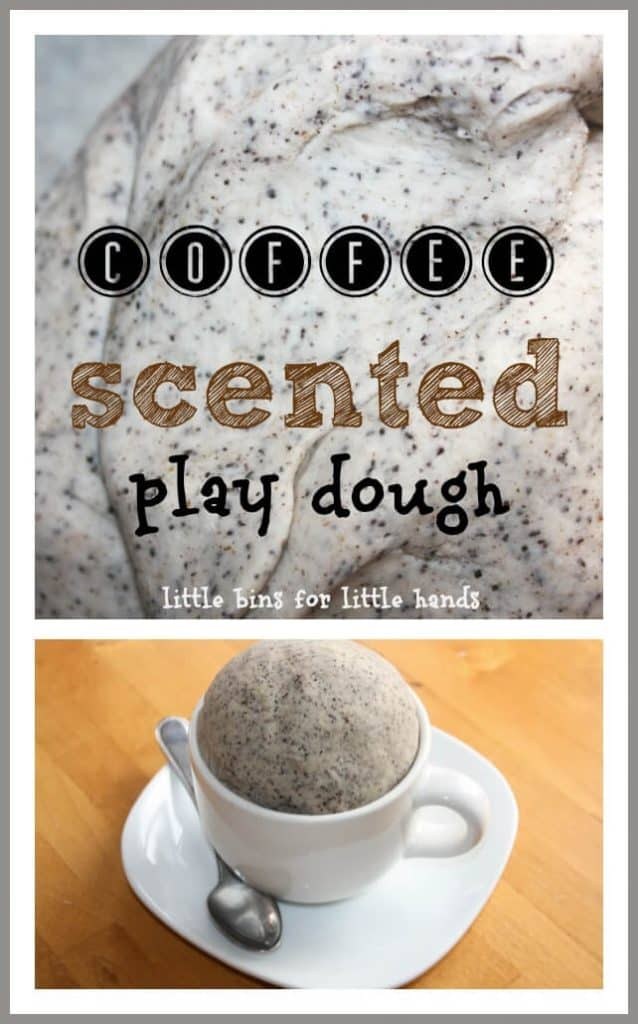 coffee scented play dough