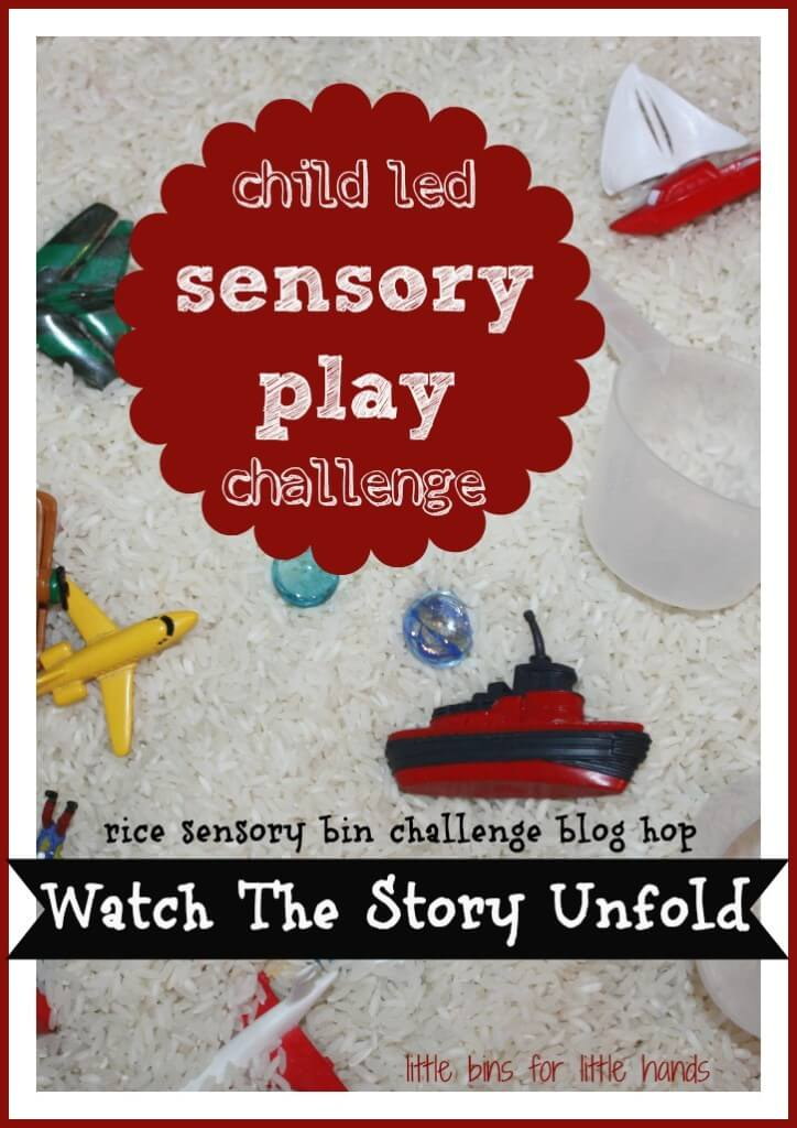 rice sensory bin challenge activity cover
