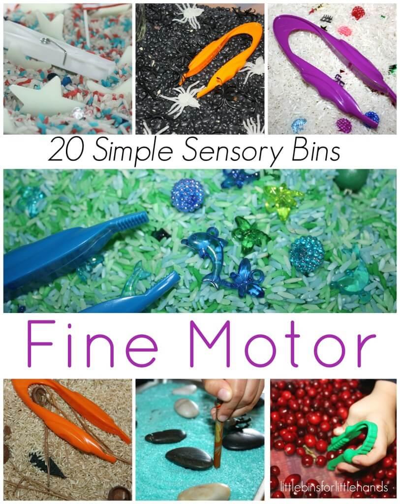 20 Fine Motor Sensory Bins
