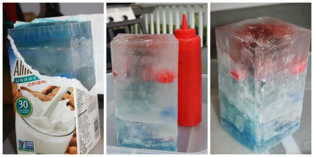 4th July Summer Science Ice Melt Set Up