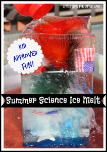 4th of July Summer Science Ice Melt