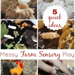 5 farm messy sensory play ideas
