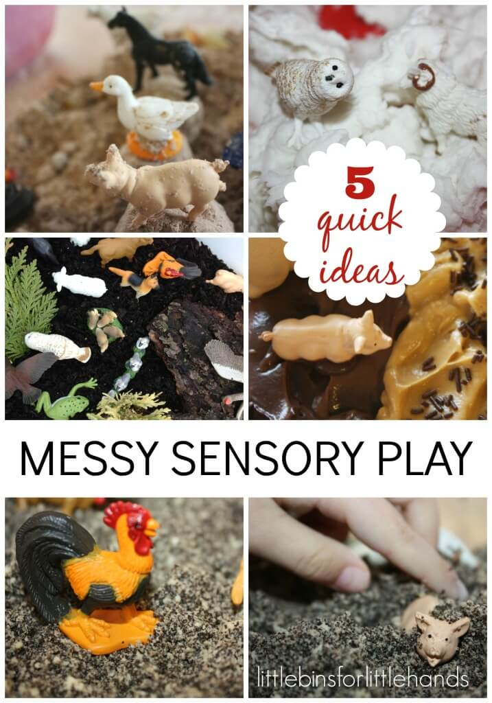 5 messy sensory play ideas