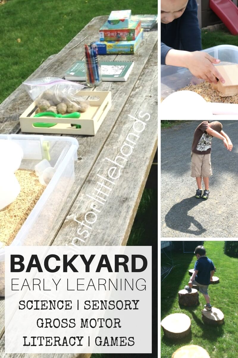 backyard activities for nature science sensory play and early