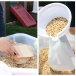 Backyard Birdseed Sensory Bin Play