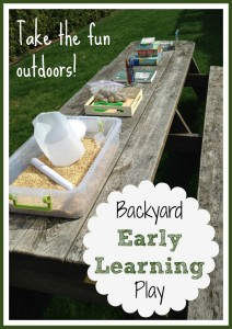 Backyard Early Learning Activities
