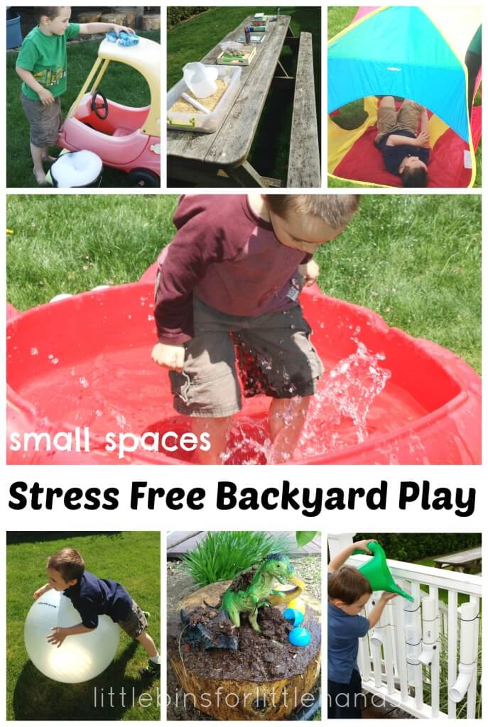 Backyard Play Ideas and Stress Free Summer Activities Small Spaces Outdoor Activities