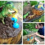 Backyard Under Bush Dinosaur Small World