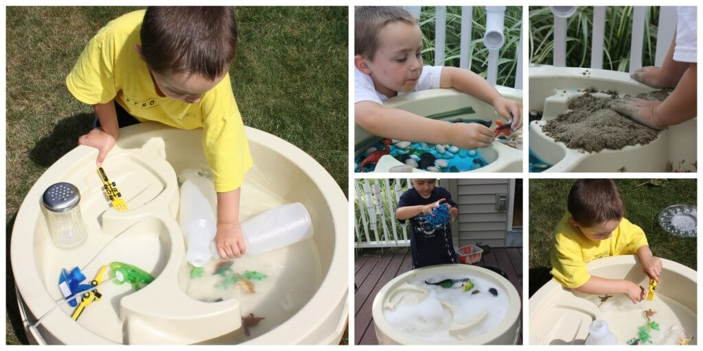 Backyard Water Table Play