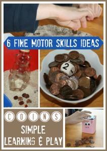 Coins Fine Motor Skills Activities