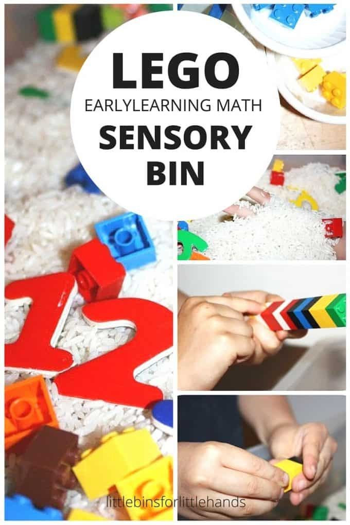Early Learning Math LEGO Sensory Bin for Preschool Math