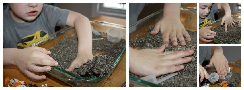 Messy Sensory Play Experiment Baking Soda Dough Hands On Play
