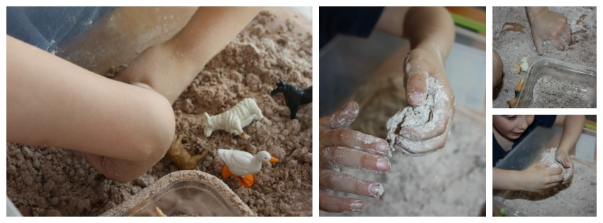 Messy Sensory Play Experiment Chocolate Cloud Dough