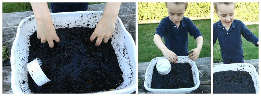 Messy Sensory Play Experiment Mud Play
