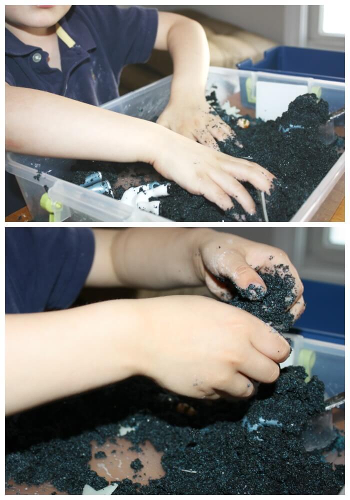 Moon Sand Sensory Play