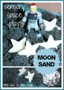 Moon Sand Space Sensory Play