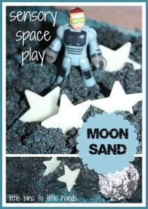 Moon Sand Space Sensory Play