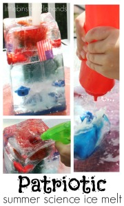 Patriotic Summer Science Ice Melt 4th of July Activity Water Play