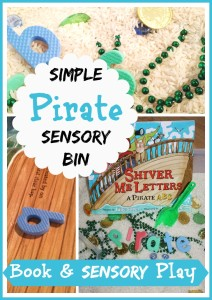 Pirate Sensory Bin and Book Activity