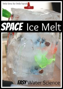 Space Ice Melt Science Activity