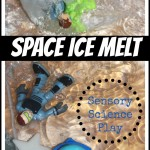Space Ice Melt Sensory Science Play