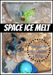 Space Ice Melt Sensory Science Play