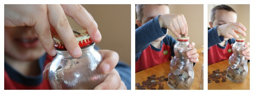 coins fine motor skills clean up