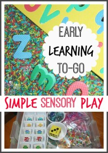 early learning sensory play to go