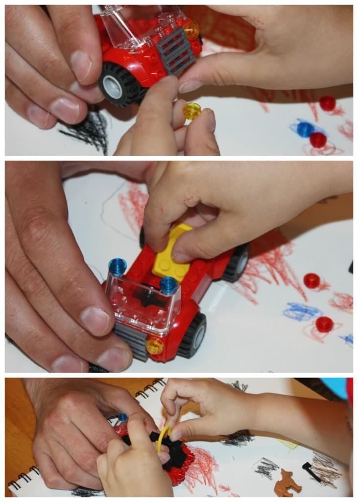 engineering lego sensory bin build