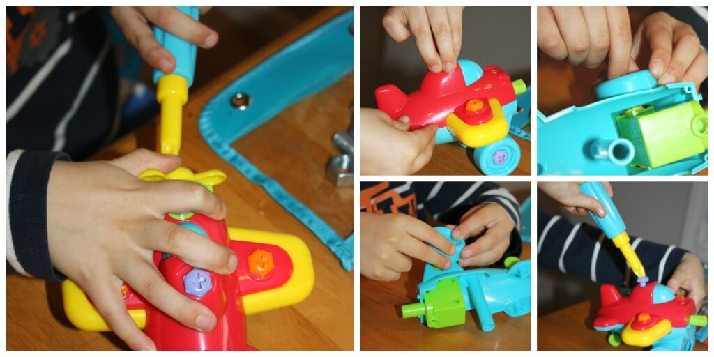 fine motor life skills screwdriver fixing toy