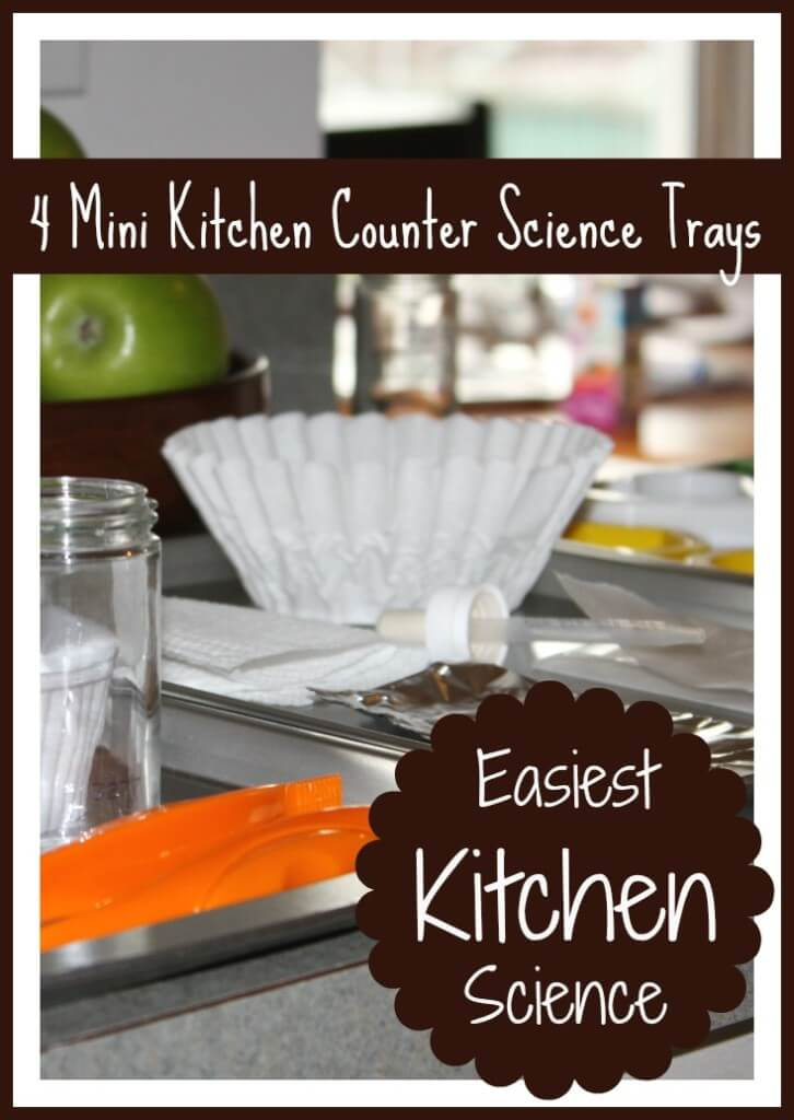kitchen counter science trays
