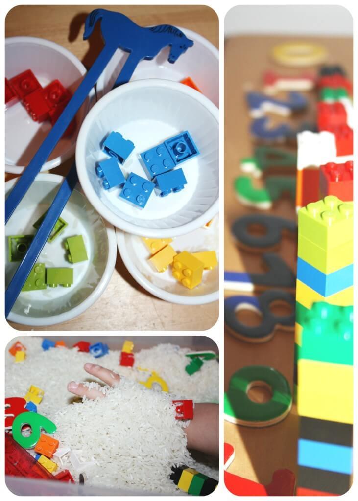 lego sensory bin 3