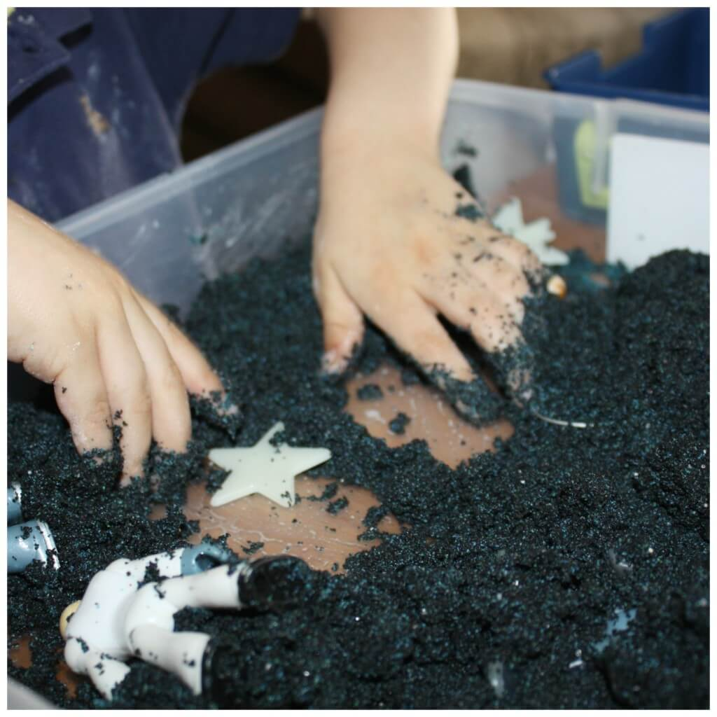 moon sand sensory space play
