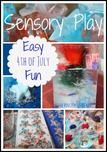 4th of July Easy Sensory Play