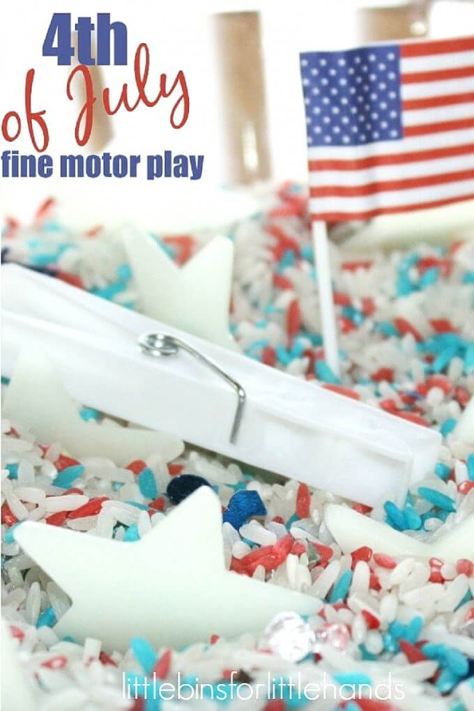 4th of July Sensory Search And Find Fine Motor Activity for Summer