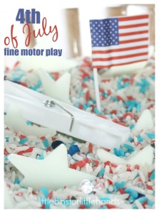 4th of July Sensory Search and Find Rice Sensory Bin Math Activity