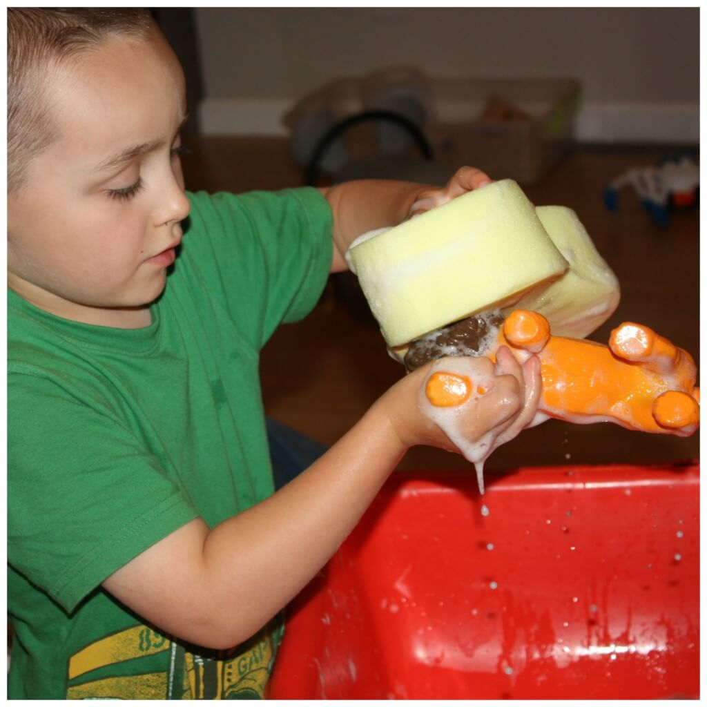 Animal Wash Sensory Play Lion Scrub