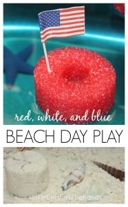 Beach Sensory Sink 4th of July Activity Cloud Dough Water Play