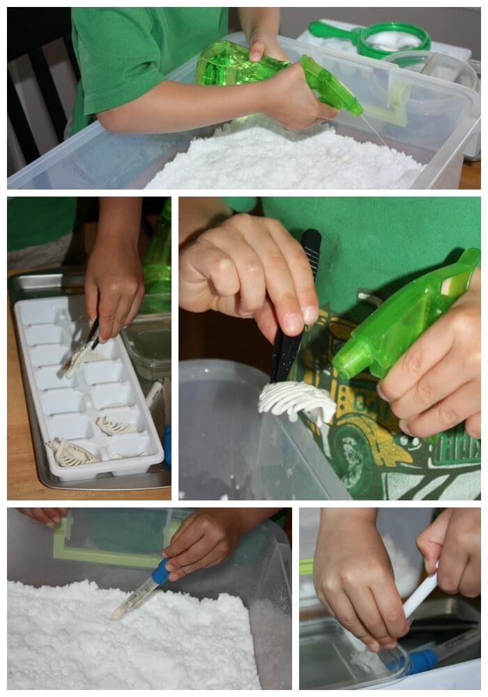 Fizzing Dinosaur Excavation Science Play And Bone Find
